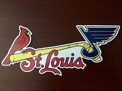 St. Louis Blues Cardinals Fans Sports Mushup Car Laptop Vinyl Decal Sticker](Sports Stickers)