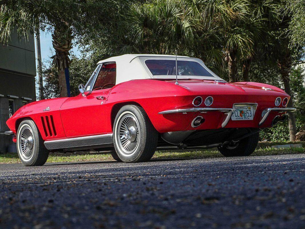 1966 Red Chevrolet Corvette Convertible    C2 Corvette Photo 8