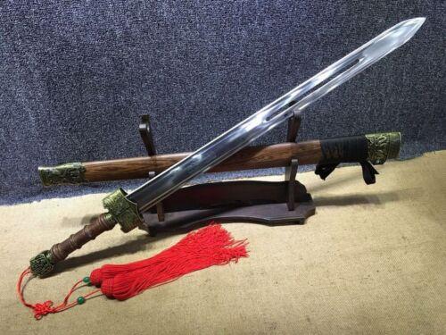 """37.4"""" Sharp Movie Hero Jet Li Chinese Sword Jian + Red Tassel *Sharp*"""