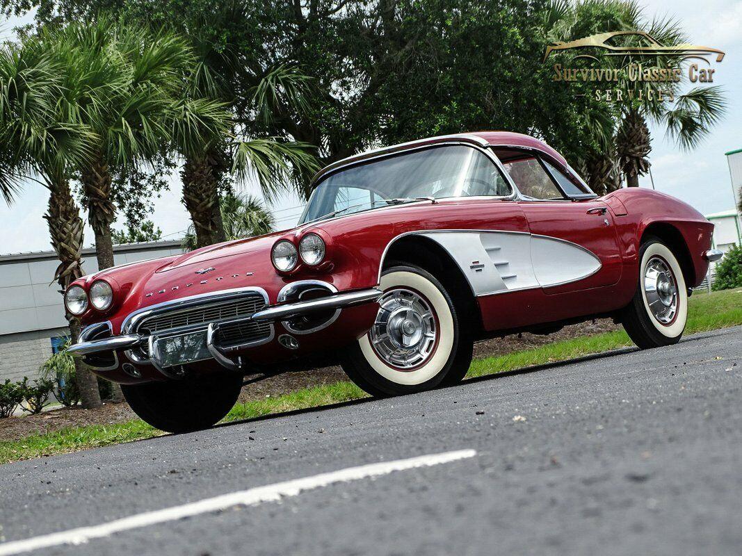 1961 Honduras Maroon Chevrolet Corvette   | C1 Corvette Photo 1
