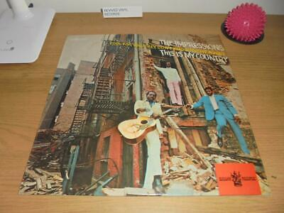 THE IMPRESSIONS - This Is My Country - Vinyl LP