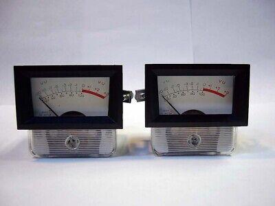 Pair Hoyt Usa 1-12 Mini Vu Meters Analog Audio Level Meter 1970s