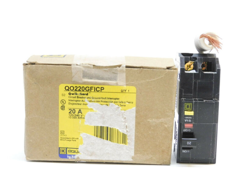 SQUARE D QO220GFICP 20A 120/240V (AS PICTURED) NSMP