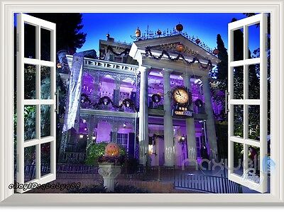 Disney Haunted Mansion Ghost House 3D Window Wall decor Stickers Party decals