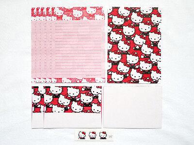 VINTAGE SANRIO 76, 90 HELLO KITTY Stationery Letter Set 6 Shts 3 Envl + Stickers