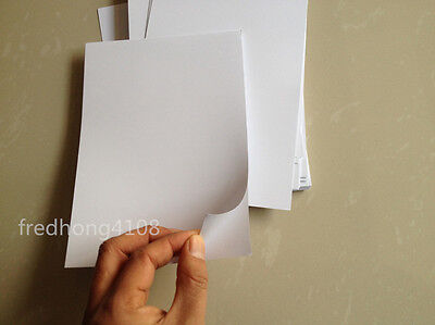 20pc White A5 Glossy Self Adhesive Label Sticker Photo Paper for Inkjet Printer