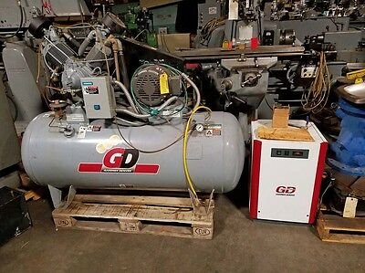 Gardner Denver Lhr10-12 300 Air Compressor 10 Hp With Dryer 36401