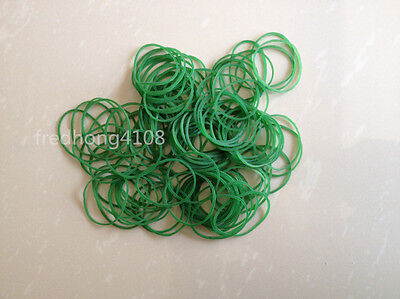 100pc Green Office Supply Rubber Band Strong Elastic For Packing Home Collecting