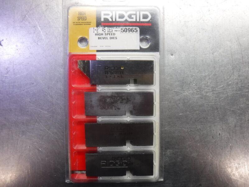 """Ridgid 1"""" - 2"""" 45 Degree Bevel Die Set For Pipe Welding Prep 50965 (LOC2337)"""