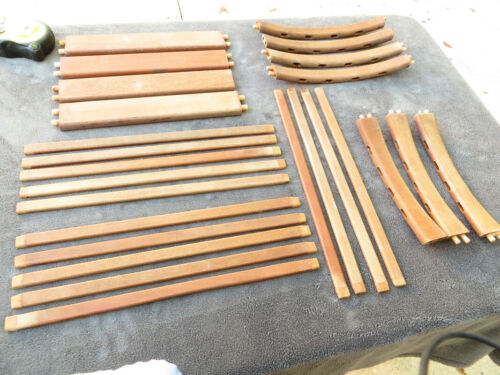 Mid Century Teak Chair Parts Sold wood Rounded Parts furniture Salvage HC