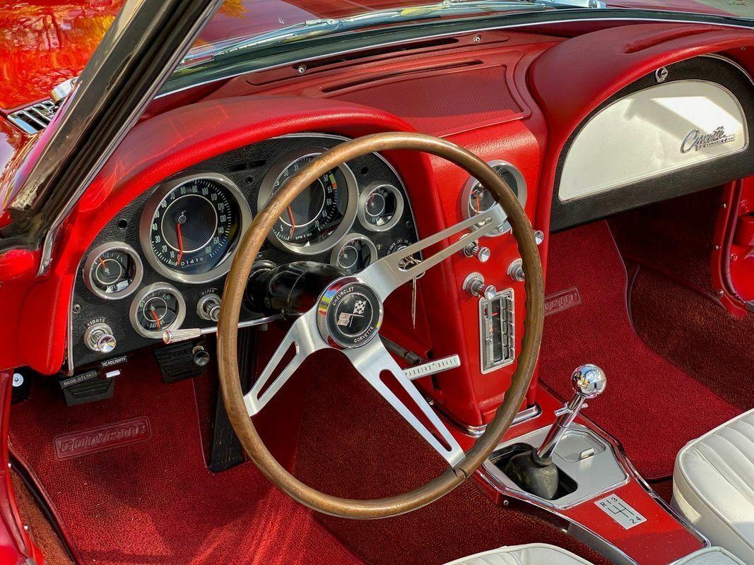 1964 Red Chevrolet Corvette Convertible    C2 Corvette Photo 4