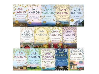 THE MITFORD SERIES Collection by Jan Karon Set of LARGE TRADE Paperbacks 1-14