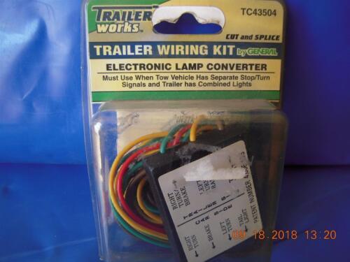 TC43504 Trailer Wiring Kit, Trailer Works Electronic Lamp Converter