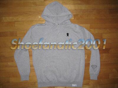 Diamond Hoody (Diamond Supply Co Grizzly Hoody Grey Embroidered Bear Blue Label Kendrick TDE)