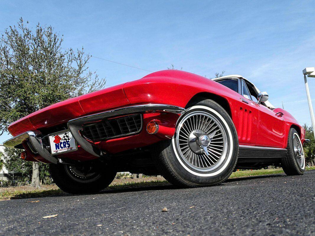 1966 Red Chevrolet Corvette Convertible    C2 Corvette Photo 5