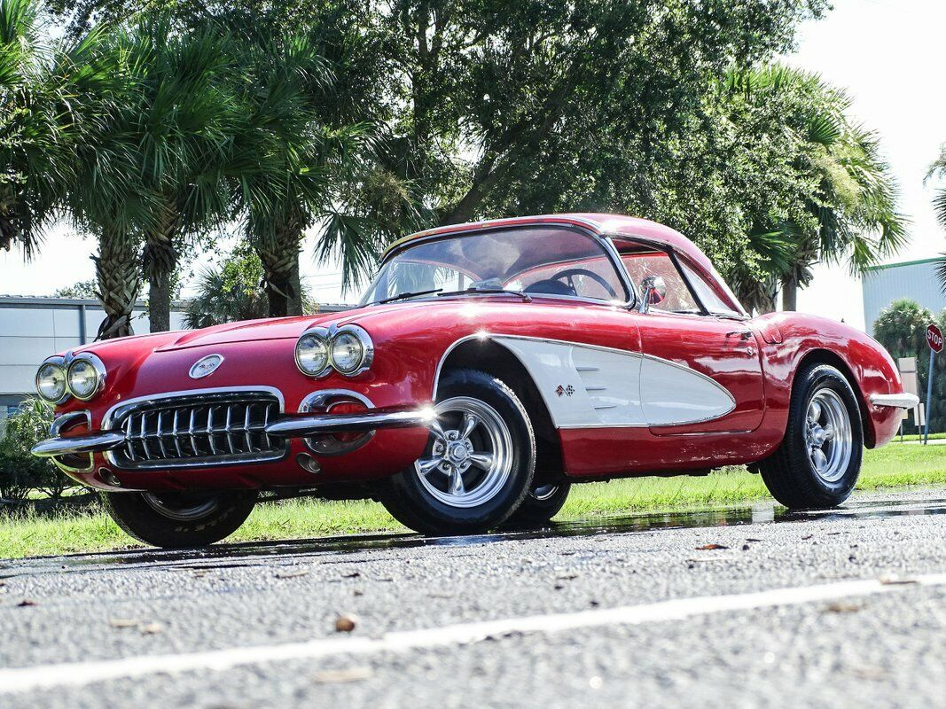 1959 Red Chevrolet Corvette Convertible  | C1 Corvette Photo 3