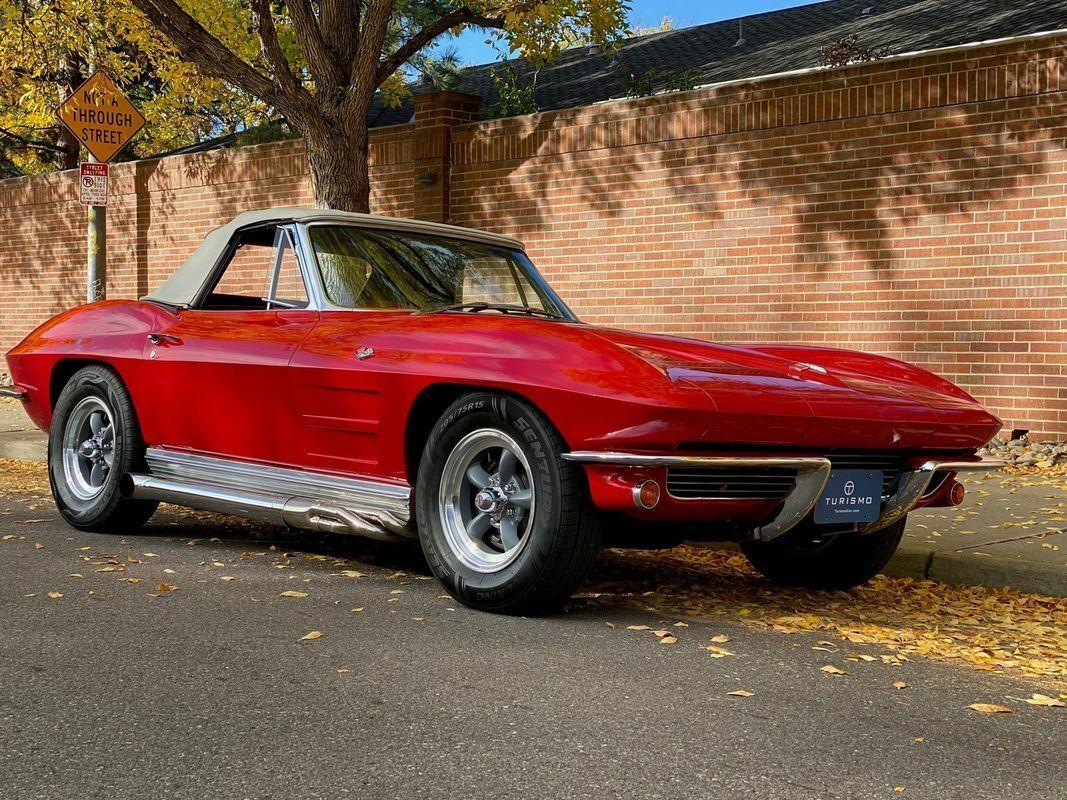 1964 Red Chevrolet Corvette Convertible    C2 Corvette Photo 2