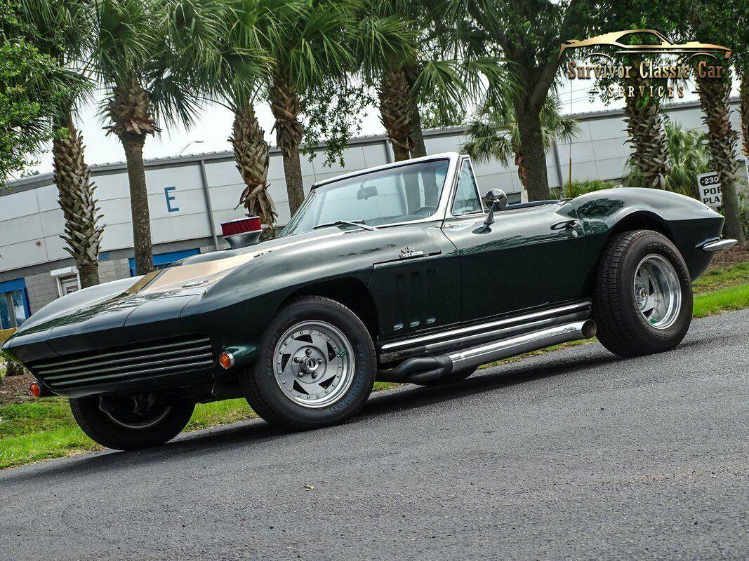 1965 Green Chevrolet Corvette Convertible  | C2 Corvette Photo 1