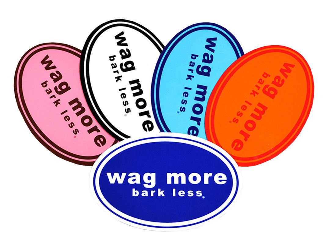 wag more bark less bumper magnet dog