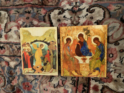 Andrei Rublev Icons Holy Trinity/Hospitality and Resurrection of Christ Pascha