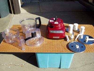 KITCHENAID KFP1333 13 CUPS FOOD PROCESSOR RED GOOD CONDITION USED