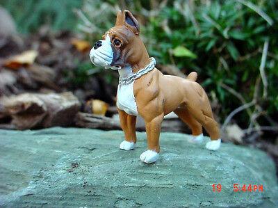 - Boxer Dog Miniature Figure 1/24 Scale G Scale Diorama Accessory Item
