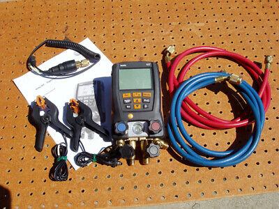 Testo 557 Digital Manifold Kit With Bluetooth 2 Hoses Refrigeration Heat Pumps