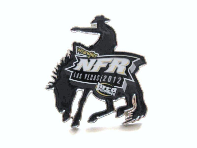 2012 Wrangler NFR PRCA Rodeo Hat Lapel Pin Souvenir Lone Rider Cowboy Las Vegas