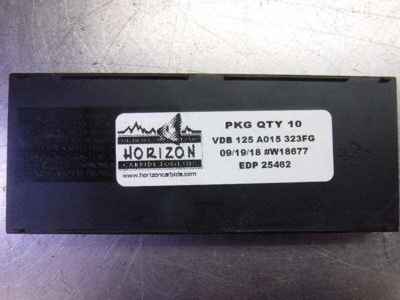 Horizon Carbide Tooling Carbide Inserts QTY10 VDB 125 A015 323FG (LOC2275)