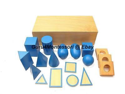 Montessori Sensorial Material- 10 Blue Geometric Solids Set