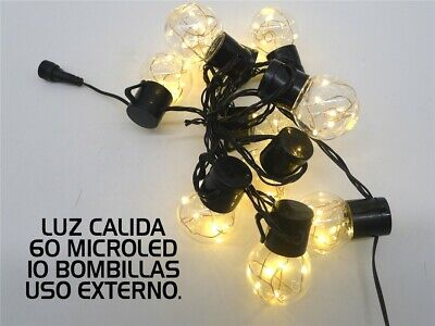 GUIRNALDA NAVIDAD 10 BOMBILLAS VINTAGE LED CÁLIDO EXTERIOR 1,8M (23124)