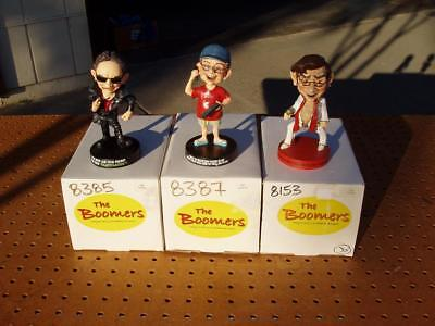 LOT of 3 THE BOOMERS COLLECTION FIGURINES FLATULATOR GAMES ON GRANDPA NICE COND