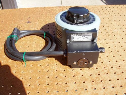 POWERSTAT MODEL 3PN126 VARIABLE AUTOTRANSFORMER SUPERIOR ELECTRIC GOOD CONDITION