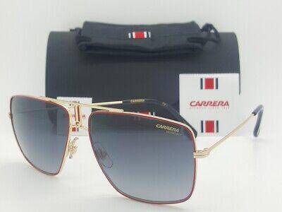NEW Carrera sunglasses Mens Red Gold Grey Gradient 1006 AU2 60 AUTHENTIC (Carrera Aviators)