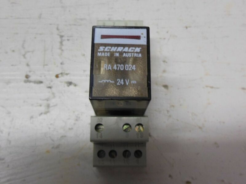 Schrack RA470024 24 VDC Cube Relay 14 Pin RA 470 024