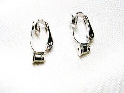 Change Pierced Earrings To Clip On W  Earring Converters For Post Style  Silver