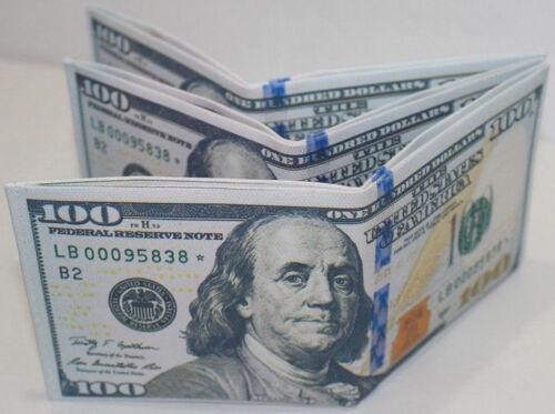 New Mens US Dollar Bill Wallet Canvas Credit Card Photo Holder Purse