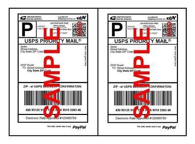 Premium Shipping Labels For Laser Printer Inkjet 8.5 X 5.5
