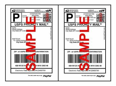 Mailing Shipping Labels High Quality Self Adhesive 8.5 X 5.5 Usps Fedex Paypal