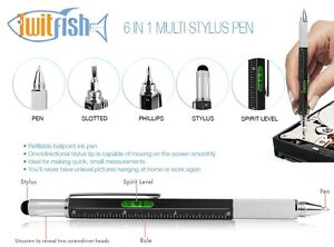 Twitfish Multi Tool Stylus Pen DIY with Screwdriver Spirit Level (WATCH VIDEO)