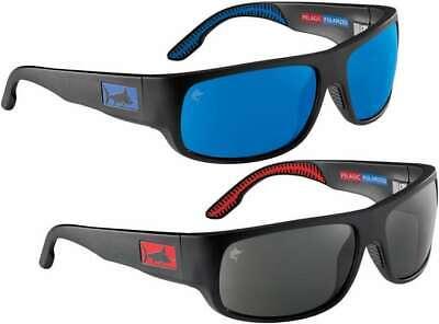 NWT Pelagic Men's BIG MARLIN Sunglasses Black Red Logo Blue Lens PMG $239