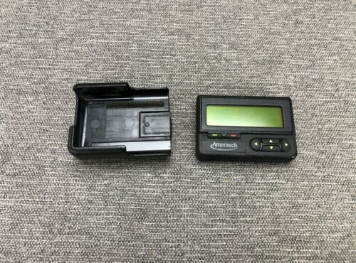 Vintage Old Motorola Advisor Beeper Pager TESTED Work Great Original Holster