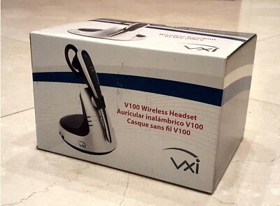 VXi V100 Wireless DECT 6.0 Headset Noise Cancel Mic 300 FT Range up to 10 Hours