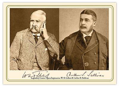 GILBERT & SULLIVAN Comic Opera Impresarios Autographs Cabinet Card Photograph RP