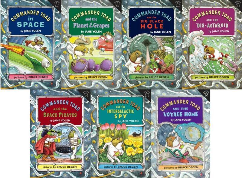 COMMANDER TOAD Childrens Series by Jane Yolen PAPERBACK Set of Books 1-7