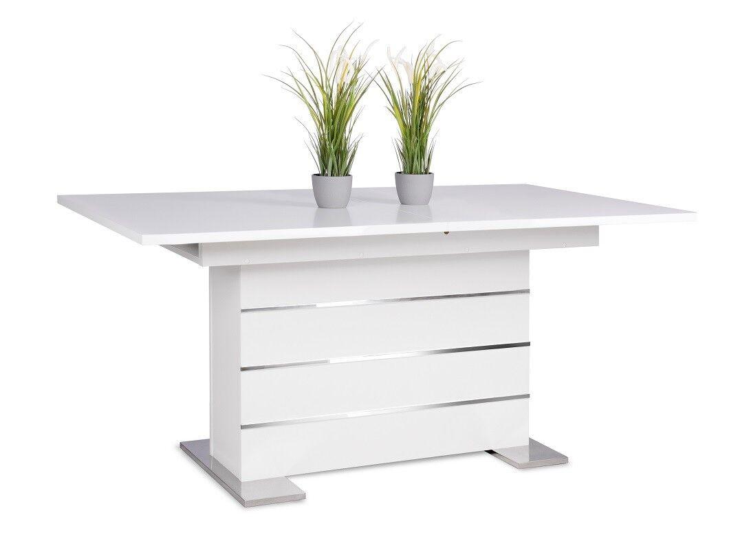 Esstisch ausziehbar weiß  | Ausziehtisch | Tisch Esszimmer | 160-200x90 cm