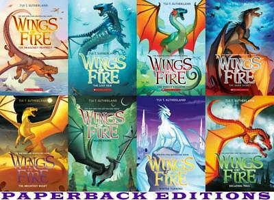Tui T Sutherland Wings Of Fire Series Paperback Collection Set Of Books 1 8