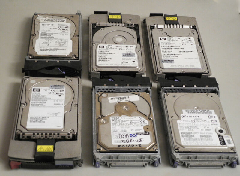 Hard Drives Lot Of 12 Main Frame Scsi Used Untested Gold Precious Metal Recovery