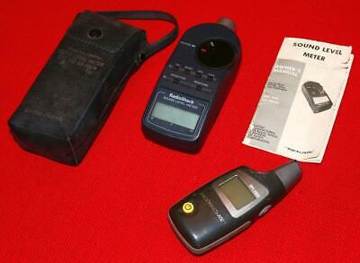 Lot Of 2 Sound Level Decibel Realistic Meter Noise Monitoring Safety Health Ae