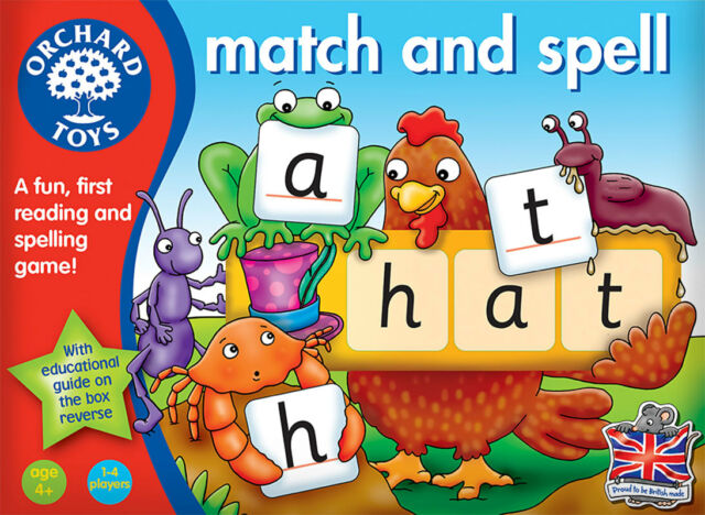 Orchard Toys Match and Spell Literacy Game for Children – NEW